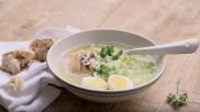 Maaltijdsoep met groenten kip en rijst snel en makkelijk recept
