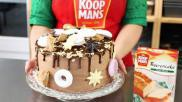 Kersttaart maken een feestelijk versierde taart bakken voor Kerst