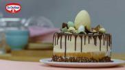 Indrukwekkende taart maken voor Pasen met paaseitjes als taartdecoratie