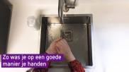 Stappenplan handen wassen met zeep zo doe je dat