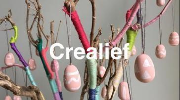 Makkelijk paastakken versieren met gekleurde wol