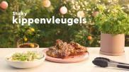 Kippenvleugels van de BBQ met pittige kruidenmarinade
