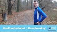 Hardlopen de juiste houding van je romp en rug