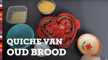 Hoe kun je oud brood verwerken tot een broodquiche