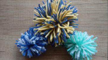 Pompon maken met 2 kleuren makkelijk en snel