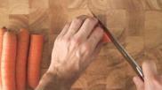 Hoe kan ik groente julienne in luciferreepjes snijden