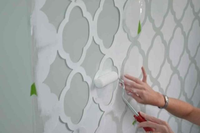Hoe kun je een sjabloon maken en aanbrengen op muren (sjabloneren ...