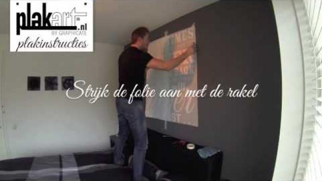Hoe moet je muurstickers als decoratie op muren plakken?