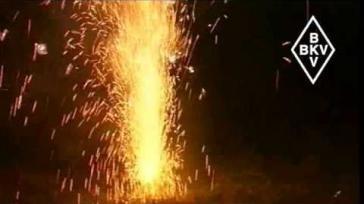 Hoe kun je veilig een vuurwerk fontein aansteken