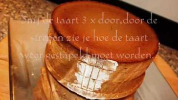 Hoe moet je taarten bakken van biscuitdeeg vullen en met marsepein versieren