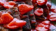 Recept Wentelteefjes met aardbeien