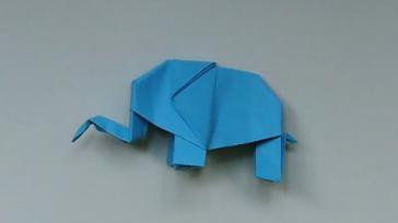 Hoe kun je een olifant van papier vouwen zonder te knippen origami