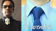 Hoe moet je een stropdas knopen De Cavendish knoop