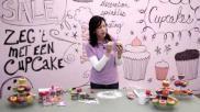 Hoe kun je cupcakes versieren met een schaapje van marsepein