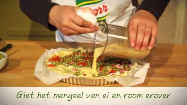 Recept-hartige-taart-quiche-maken-met-pompoen-doperwtjes-en-spek