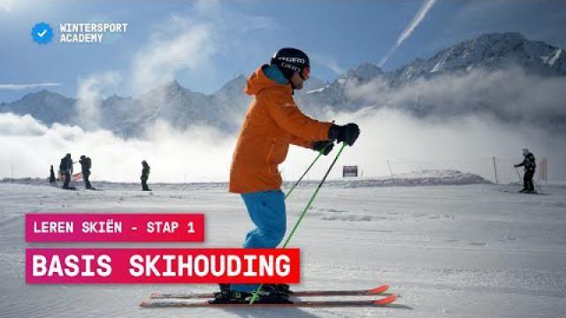 Hoe kun je een goede uitgangspositie aannemen bij het skiën.