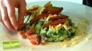 Hoe kun je spinaziestamppot met spek en zalm maken