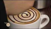 Een chocolade roos in je koffieschuim maken