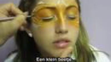Hoe kun je een dierenmasker schminken rond de ogen