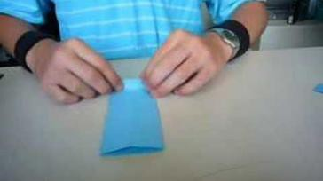 Hoe kun je een origami overhemd vouwen